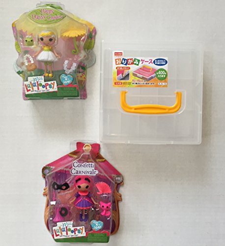 Scooby Mask (Mini Lalaloopsy Doll Set Bundle: Mini Happy Daisy Crown Doll & Mini Confetti Carnivale Doll Plus a Clear Sturdy Plastic Carry Case w/Handle. Perfect For Valentines or Easter Gift (3 Items))