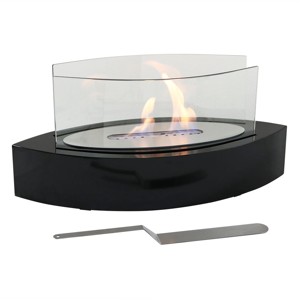 Sunnydaze Barco Ventless Tabletop Bio Ethanol Fireplace, Black by Sunnydaze Decor (Image #1)
