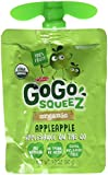 GoGo Squeez Materne Organic Applesauce On the Go Pouch, Apple Apple, 16 Count