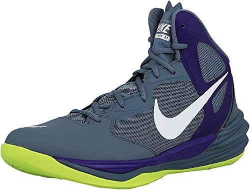 Nike Mens Prime Hype DF Basketball Shoe, Blue Graphite/Court Purple/White, 46 D(M) EU/11 D(M) UK