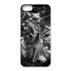T5B77 Metal Gear Solid Ground Zeroes V4I5JB Funda iPhone 4 4s funda caja del teléfono celular cubren DK5JJZ4KR blanco