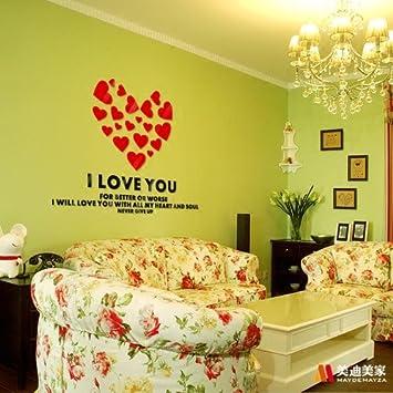 3d Wand Aufkleber Liebe Ich Liebe Dich Englisch Briefe Wandstickera