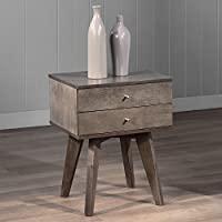 Metro Shop Jones Two-drawer Light Charcoal Nightstand