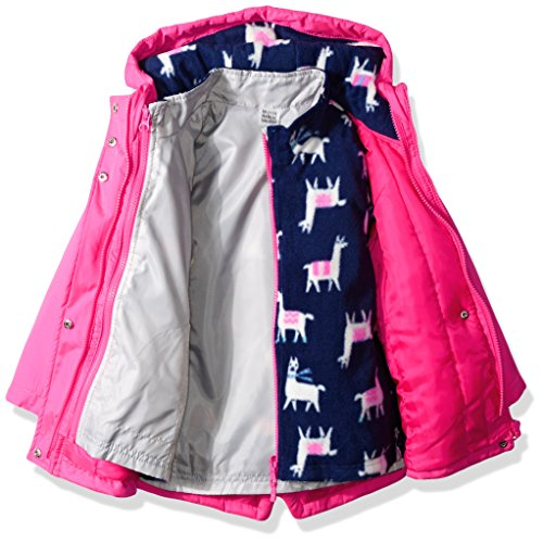 Carter's Little Girls' 4 in 1 Heavyweight Systems Jacket, Pink Llamas, 5/6 by Carter's (Image #3)