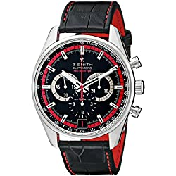 Zenith Men's 032043400.25C Class El Primero Analog Display Swiss Automatic Black Watch