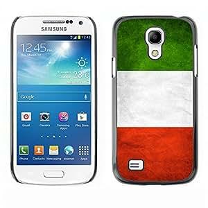 YOYO Slim PC / Aluminium Case Cover Armor Shell Portection //Italy Grunge Flag //Samsung Galaxy S4 Mini