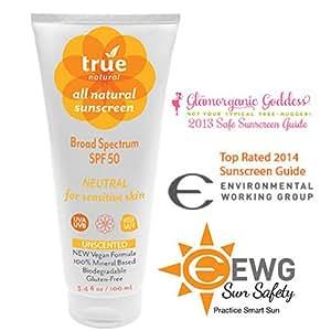 True Natural SPF 50 Sunscreen, NEUTRAL / Unscented, Broad Spectrum