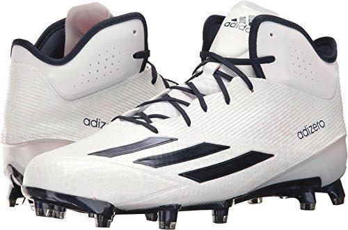 adidas Adizero 5Star 5.0 Mid Mens Football Cleat 11 White-Navy