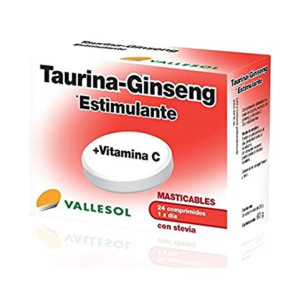 Vallesol Taurina+Ginseng 24 Comprimidos de Vallesol: Amazon ...