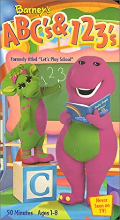 Amazoncom Barney Abcs 123s Previously Lets Play School