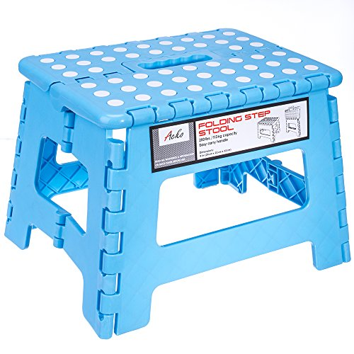 Acko 9 Inch Plastic Folding Step Stool Holds Up To 250 Lb