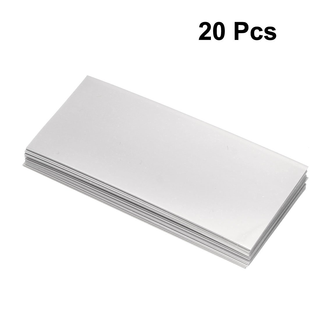 Pack of 20 a18051400ux0277 Gray uxcell PVC Heat Shrink Tubing 29.5mm Flat Width Pre Cut Heat Shrink Wrap Tube for 18650 72mm Length