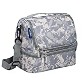 Wildkin Two Compartment Lunch Bag, Insulated, Moisture Resistant and Easy to Clean, Complete with a Microwave and Dishwasher-Safe Container, Ages 5+, Perfect for Kids & On-The-Go Parents, Digital Camo