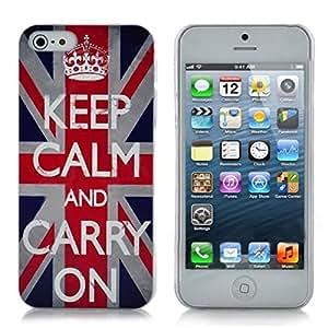 Retro Caso fresco Inglaterra Reino Unido Bandera Palabra duro para el iPhone 5