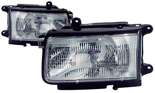 For 1998 1999 Isuzu Rodeo/Amigo | Honda Passport Headlight Headlamp Driver Left and Passenger Right Side Pair Set Replacement IZ2502102 -
