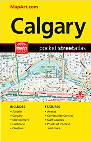 Calgary Ab Pocket Street Atlas Canadian Cartographics