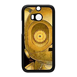 C3PO 1 Black Hard Plastic Case Snap-On Protective Back Cover for HTC? One M8 by Gangtoyz + FREE Crystal Clear Screen Protector