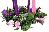 Silk Ribbon Advent Wreath Candle Holder Christmas Season Centerpiece Decoration