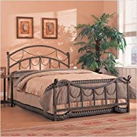 Coaster Iron Bed, Queen-Brass