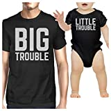 365 Printing Big Trouble Little Trouble Black Funny Fathers Day Gift For New Dad