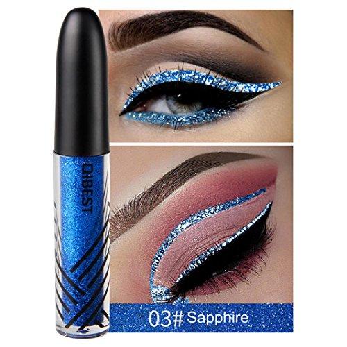 Clearance Sale! Liquid Eyeliner Waterproof, Iuhan Metallic Shiny Smoky Eyes Beauty Eyeshadow Waterproof Glitter Liquid Eyeliner (C)