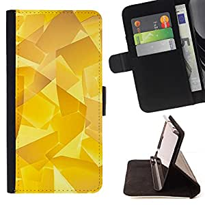- Golden Glass Shard 3D Polygon Art - Estilo PU billetera de cuero del soporte del tir???¡¯????n [solapa de cierre] Cubierta- For HTC Desire 820 £¨ Devil Case £©