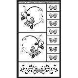 Armour Etch Stencil  Rub N Etch Stencil, Butterflies, 5-Inch by 8-Inch