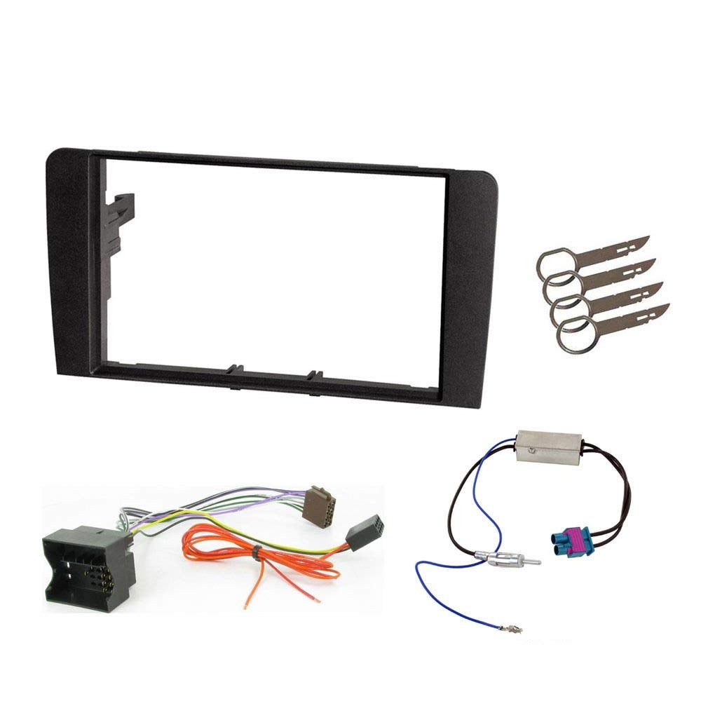 Double Din Fitting Kit for Audi A3 2004 to 2012 Fascia Car stereo Installation kit by Orangefittings