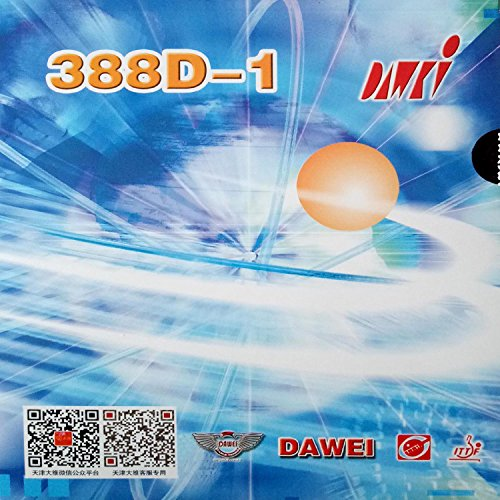 DAWEI 388D-1 Long Pips-Out Table Tennis (PingPong) Rubber With Sponge (black, 0.5mm)