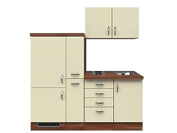 Kühlschrank Creme : Singleküche cm creme mit schubkastenschrank und kühlschrank