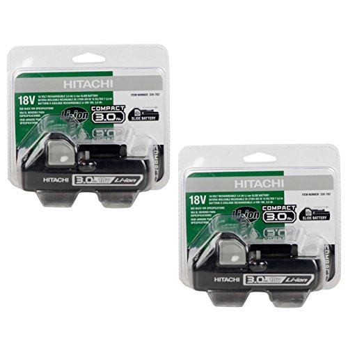 Hitachi BSL1830C 339782 18V 3.0Ah Lithium Ion Battery (2 Pack) - In Retail Packaging