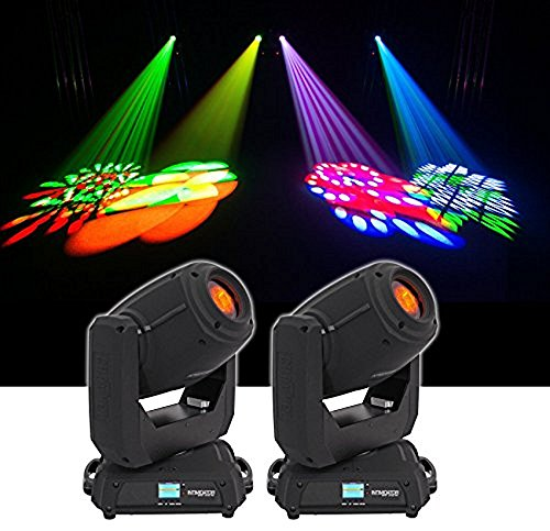 (2) Chauvet DJ Intimidator Spot 375Z IRC 150w LED Moving Head Lights w/ Zoom