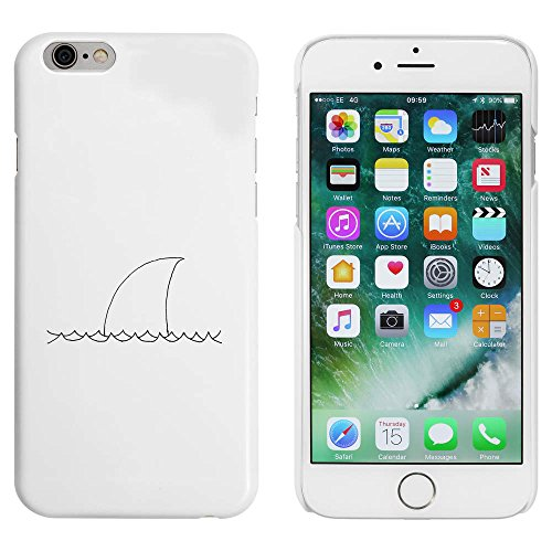 Weiß 'Haifischflosse' Hülle für iPhone 6 u. 6s (MC00011714)
