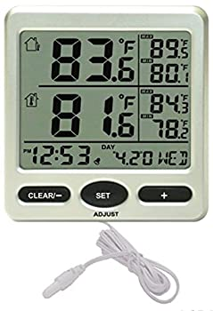 Ambient Weather WS-28 Indoor and Outdoor Temperature Monitor with Probe