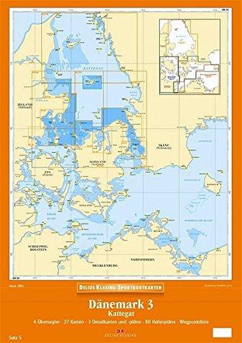 Delius Klasing Sportbootkarten / Dänemark 3: Kattegat Landkarte – 2004 376881565X Karten / Stadtpläne / Europa Segeln Wassersport