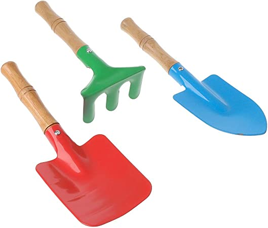 3PCS Gardening Tools Mini Trowel Rake Shovel Home Garden Gift Children Kids