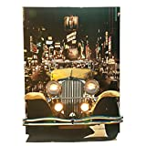 Yellow Gatsby Car Photo Scene - 8 Feet High x 6 Feet Wide x 48 Inches Deep - Real Working Electrical Lights Included