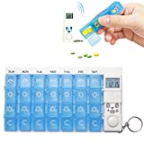 Joycentre 7 Days Weekly Digital Pill Organizer,28 Compartments Pill Box Medicine Case