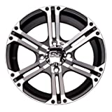 ITP 1428383404B SS ALLOY SS212 Black Wheel with Machined Finish (14x8''/4x137mm)