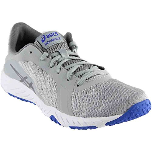 ASICS Women's Defiance X Cross Trainer, Mid Grey/Aluminum/Blue Purple, 7.5 Medium US