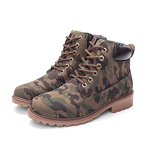 Secret-shop Early Winter Shoes Women Flat Heel Boots Fashion Keep Warm Women's Boots,Army Green No Plush,7.5 (Hpi Hiking Shoes)
