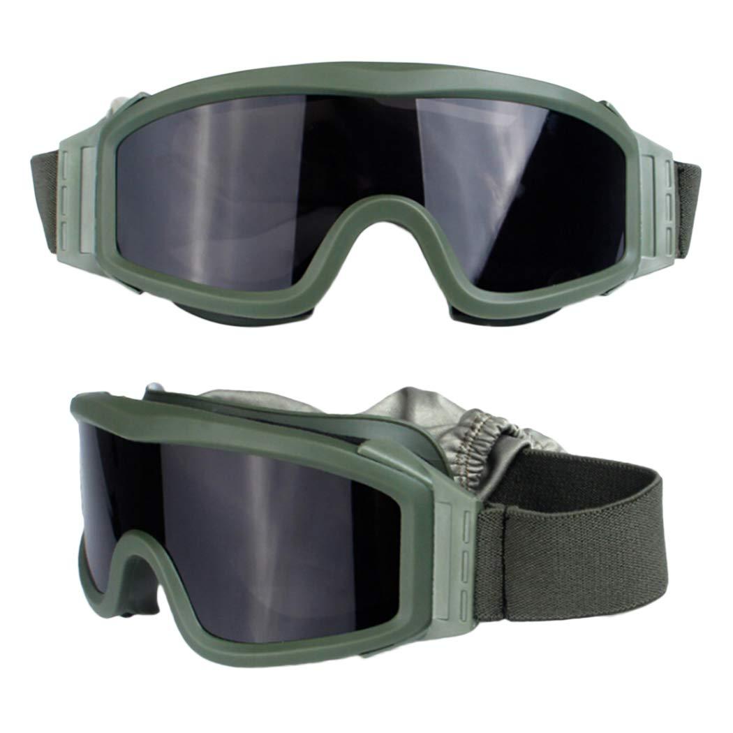 Outgeek 安全ゴーグル 保護用 ユニセックス ライディングゴーグル サイクリングゴーグル 安全メガネ グリーン