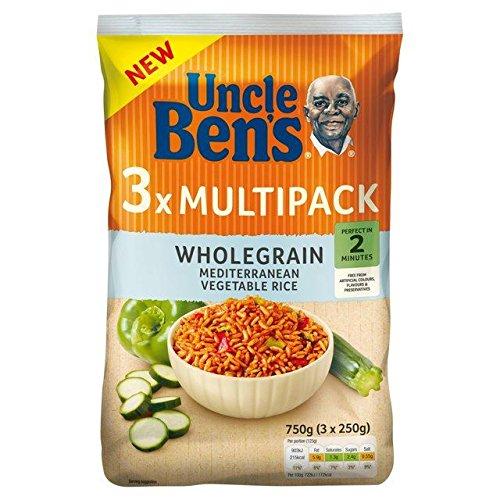 (Uncle Ben's Multipack Wholegrain Mediterranean Vegetable Rice 3 x 250g)