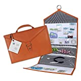 Craft Storage + Bead Organizer Orange ENVELOPE by KIT XCHANGE Travel Storage Bag + Hanging Jewelry Bead Organizer