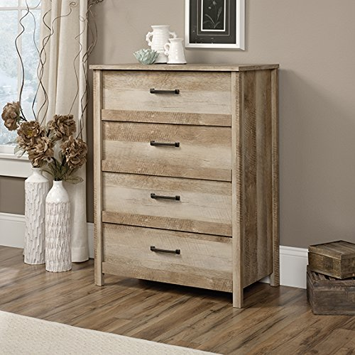 Sauder Cannery Bridge 4-Drawer Chest Lintel Oak by Sauder