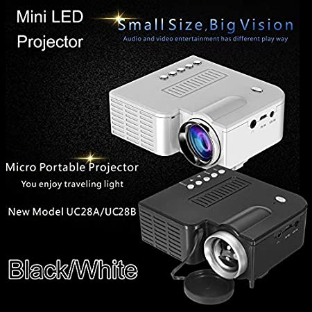UC28B Mini proyector LED portátil 1080P Multimedia Family Cinema ...