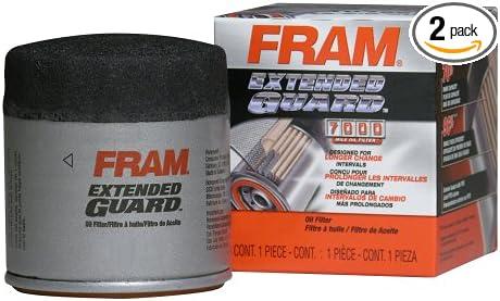 Pack of 2 Fram XG4967 Extended Guard Passenger Car Spin-On Oil Filter