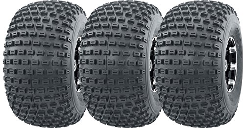 - Wanda 3 New 3 Wheeler ATV Tires 22X11-8 4PR P322 Dimple Knobby - 10026