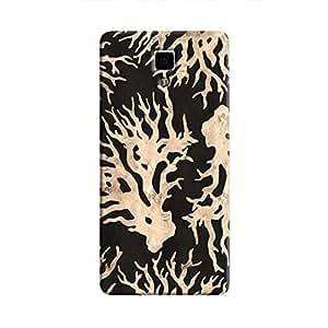Cover It Up - Black Gold Nature Print Mi4 Hard Case