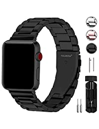 Fullmosa Compatible Apple Watch Strap 38mm 40mm and 42mm 44mm, Stainless Steel Watch Band for iWatch/Apple Watch Series 4 3 2 1